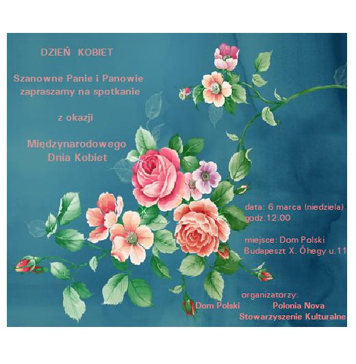 zaproszenie na dzień kobiet w Budapeszcie