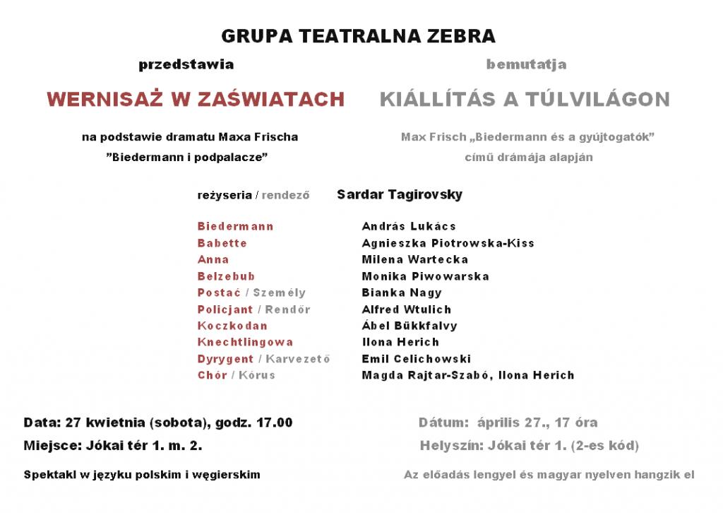 polskie przedstawienie teatralne w Budapeszcie