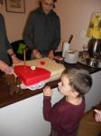 polski tort na polskiej imprezie w Budapeszcie