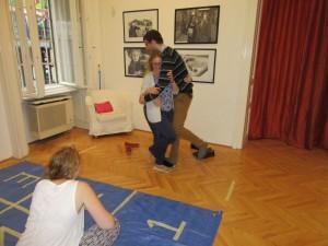 Polacy w Budapeszcie podczas gry rodzinnej