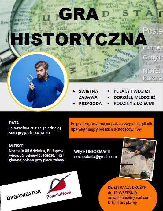 Gra historyczna dla Polaków w Budapeszcie