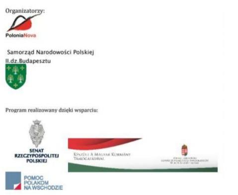 sponsorzy gry miejskiej Polonia Nova w Budapeszcie