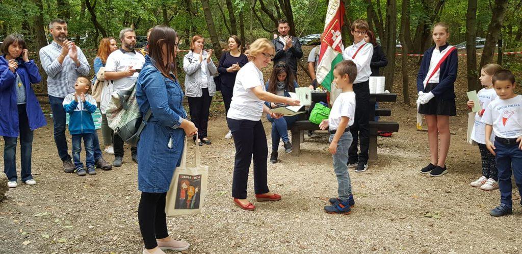 pasowanie na ucznia - piknik Polonia Nova w Budapeszcie